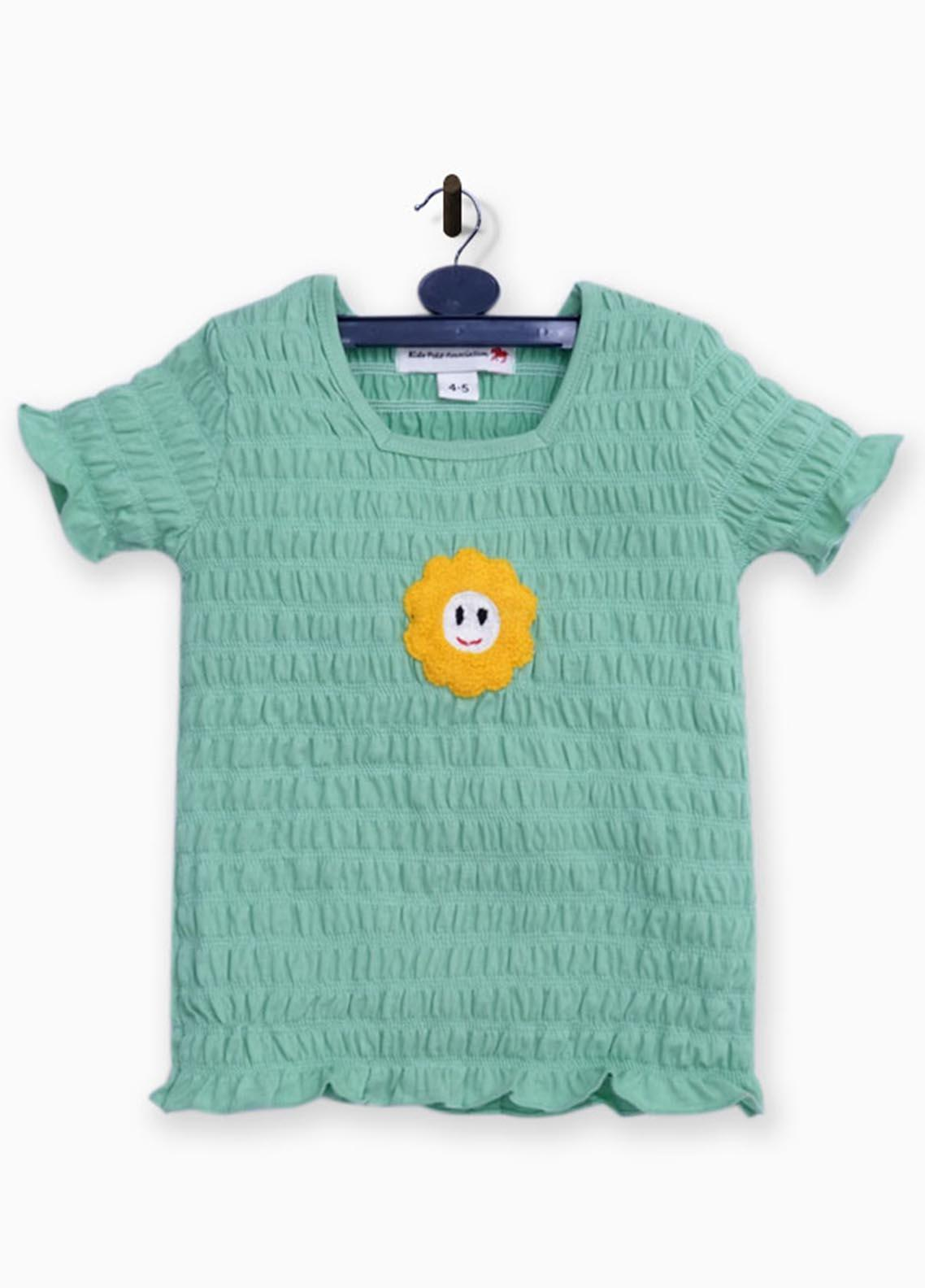 Kids Polo Cotton Jersey Fancy T-Shirts for Girls -  GJSK20212