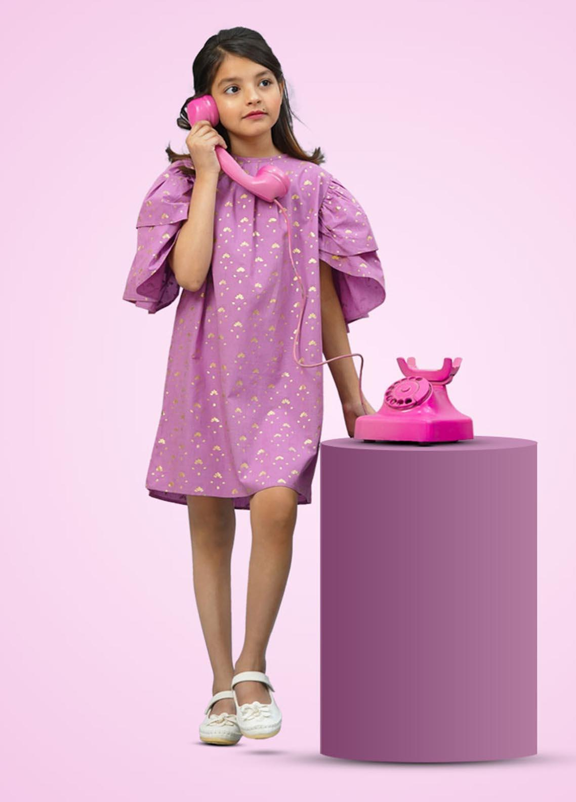 Kids Polo Cotton Casual Frock for Girls -  GWSK-20201