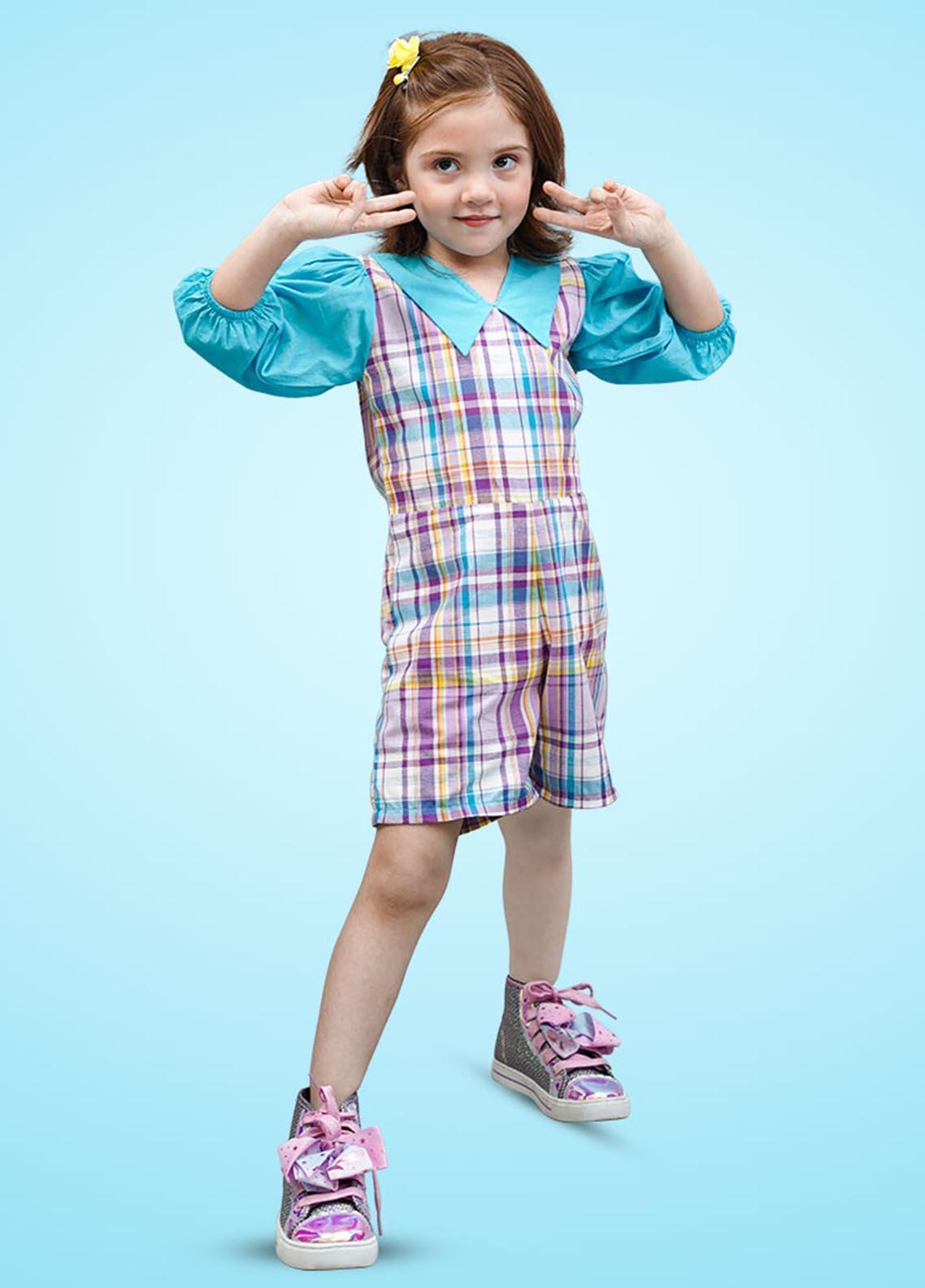 Kids Polo Cotton Fancy Girls ROMPER -  GWSK20214