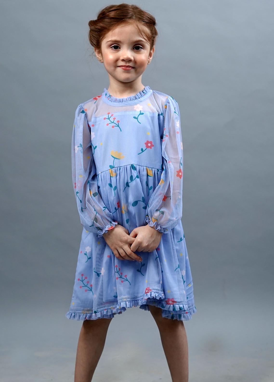Kids Polo Poly Net Fancy Frocks for Girls -  GWSK20215
