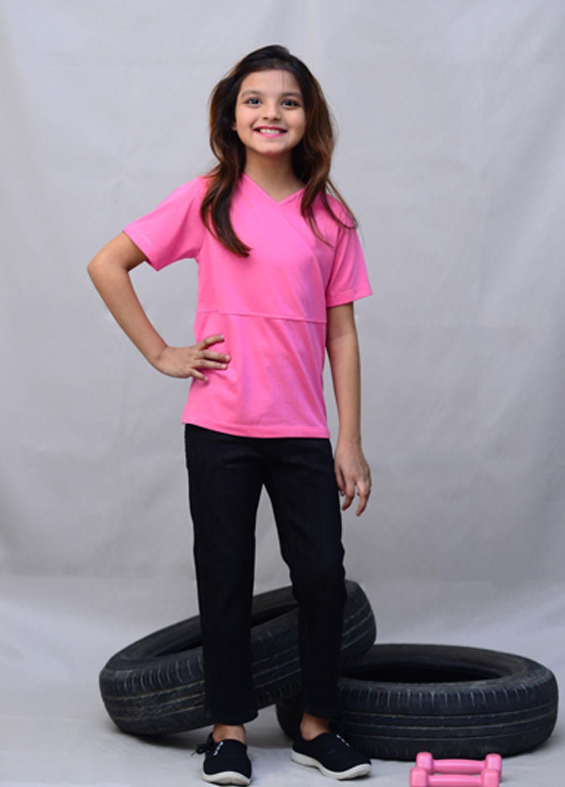 Kids Polo Cotton Casual Girls Tops -  KP20GW GJWK20201 Cross Stitch Top