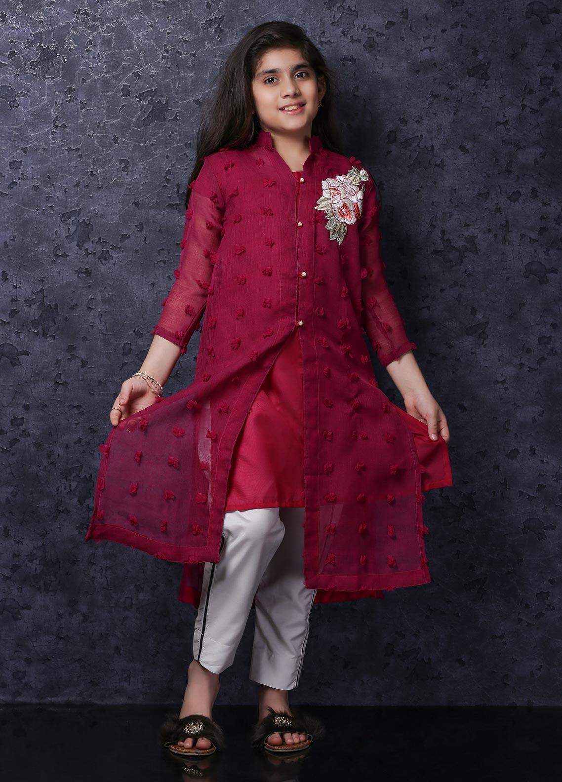Nargis Shaheen Net Luxury 2 Piece Suit for Girls -  NSK-036