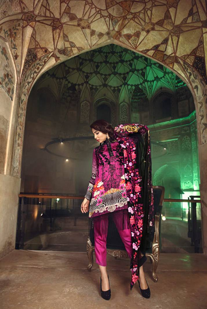Kross Kulture Embroidered Silk Unstitched 3 Piece Suit KK17S 01