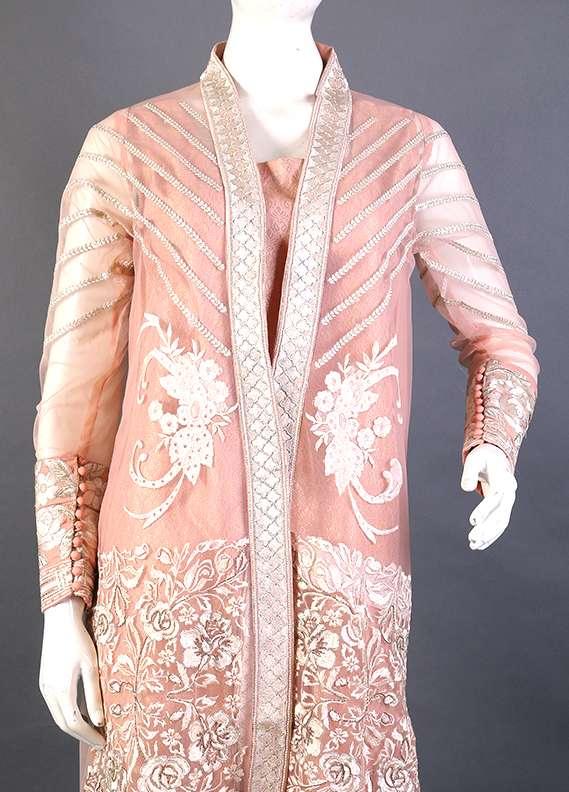 Kross Kulture Embroidered Cotton Net Stitched Kurtis KK 244 Pink