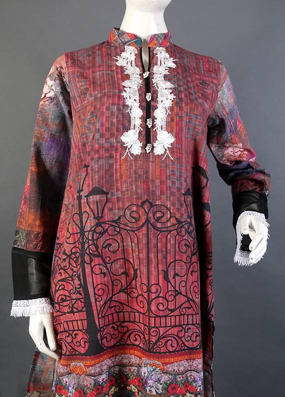 Kross Kulture Embroidered Khaddar Stitched Kurtis KK 748 Digital