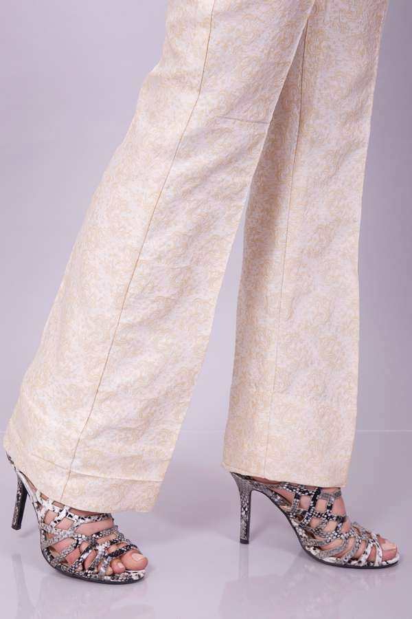 Kross Kulture Printed Cotton Stitched Trousers KK T105B