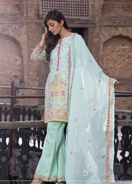 Kalyan By ZS Embroidered Lawn Unstitched 3 Piece Suit KL17D 1A