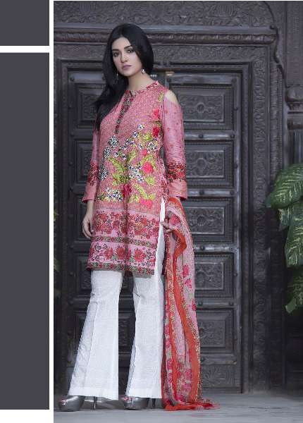 Kalyan By ZS Embroidered Lawn Unstitched 3 Piece Suit KL17D 4B