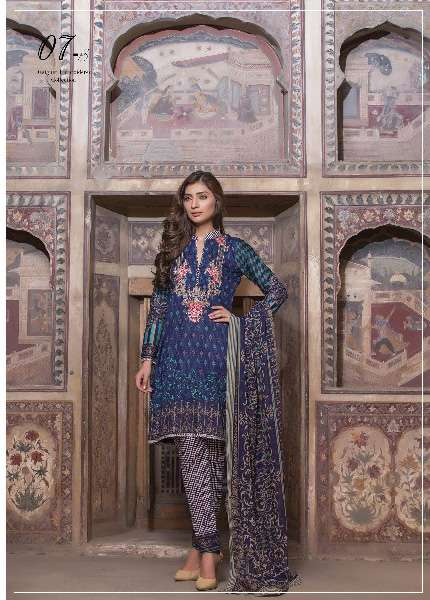 Kalyan By ZS Embroidered Lawn Unstitched 3 Piece Suit KL17D 7B