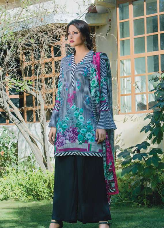 Kalyan By ZS Embroidered Linen Unstitched 3 Piece Suit KL17W2 04