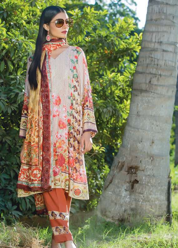 Kalyan By ZS Embroidered Linen Unstitched 3 Piece Suit KL17W2 07
