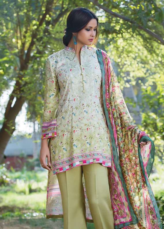 Kalyan By ZS Embroidered Linen Unstitched 3 Piece Suit KL17W2 3A