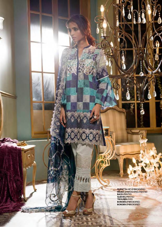 Komal By LSM Embroidered Lawn Unstitched 3 Piece Suit KM17E KE1011B
