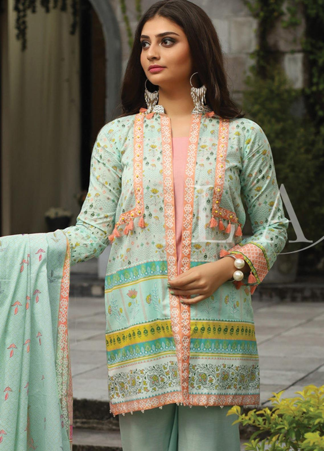 Lakhany Printed Lawn Unstitched 3 Piece Suit KL20LSM 28 - Spring / Summer Collection