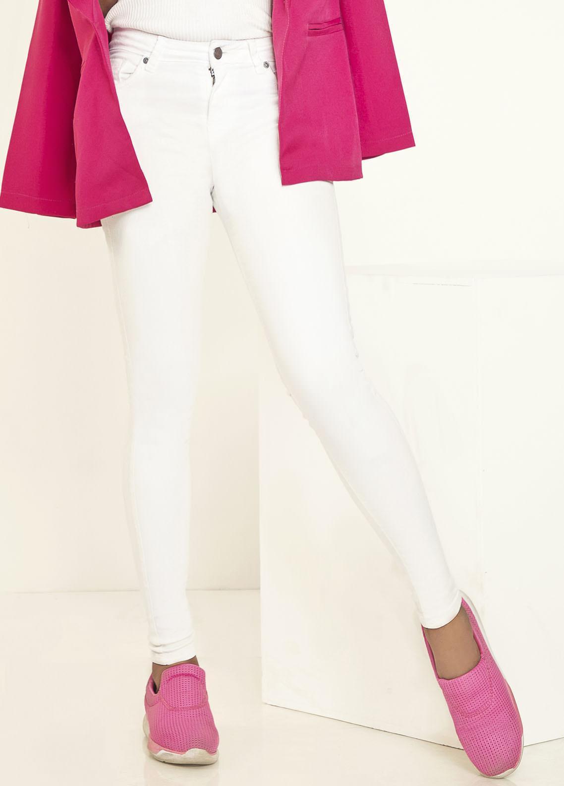 Kross Kulture Perfect Curves Denim Jeans KWA-20-005 WHT