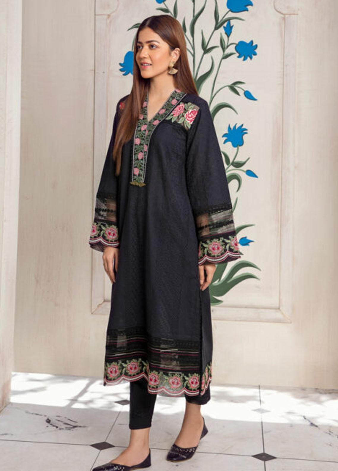 Kross Kulture Luxury Pret  Schiffli Shirt KX-21251 Black