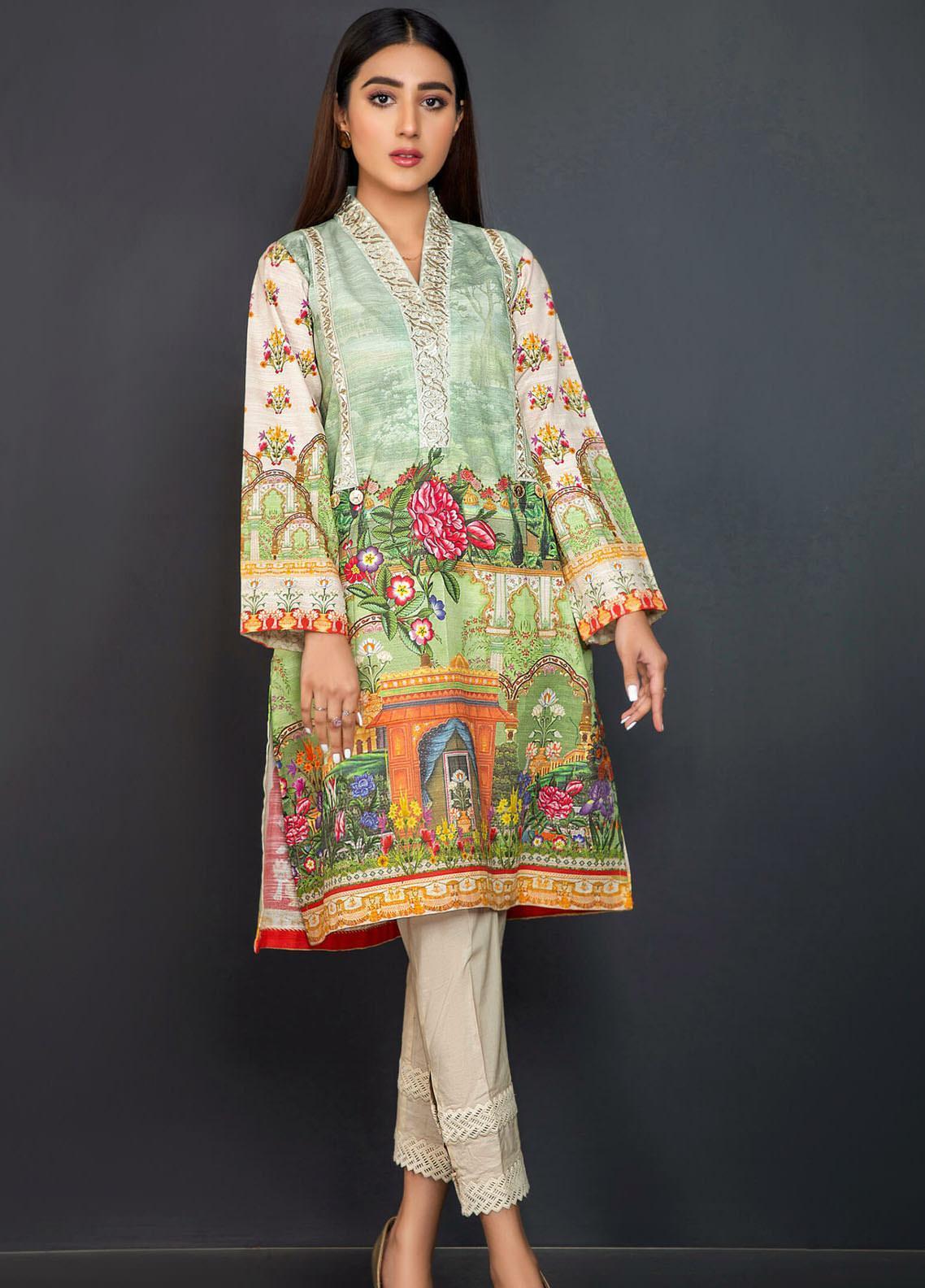 Kross Kulture Embroidered Khaddar Stitched Kurtis KPR-20637