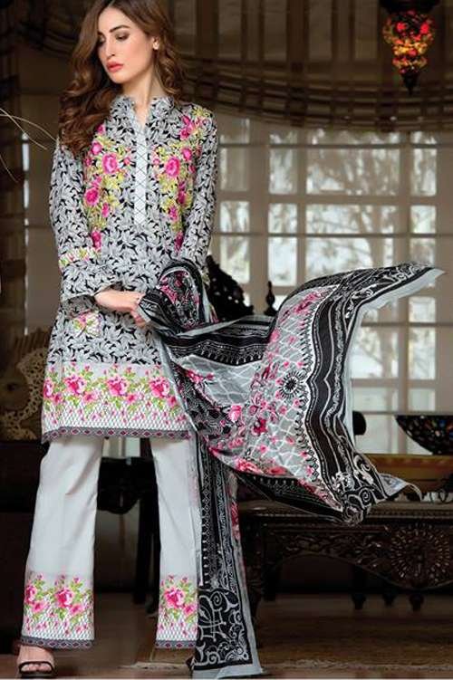 Kalyan By ZS Embroidered Lawn Unstitched 3 Piece Suit KY17E2 10A