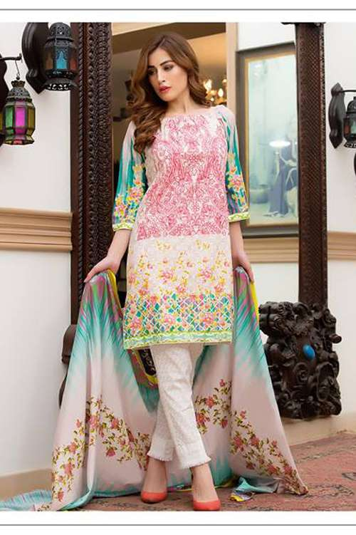 Kalyan By ZS Embroidered Lawn Unstitched 3 Piece Suit KY17E2 12A
