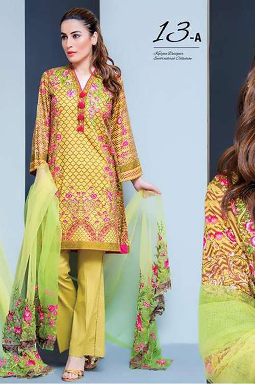 Kalyan By ZS Embroidered Lawn Unstitched 3 Piece Suit KY17E2 13A