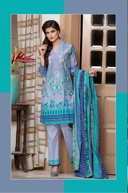 Kalyan By ZS Embroidered Lawn Unstitched 3 Piece Suit KY17E2 2B