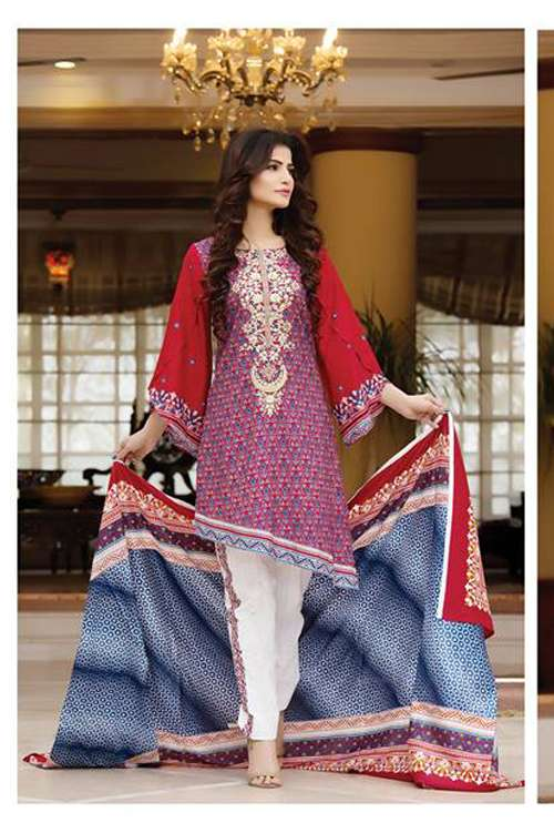 Kalyan By ZS Embroidered Lawn Unstitched 3 Piece Suit KY17E2 5A