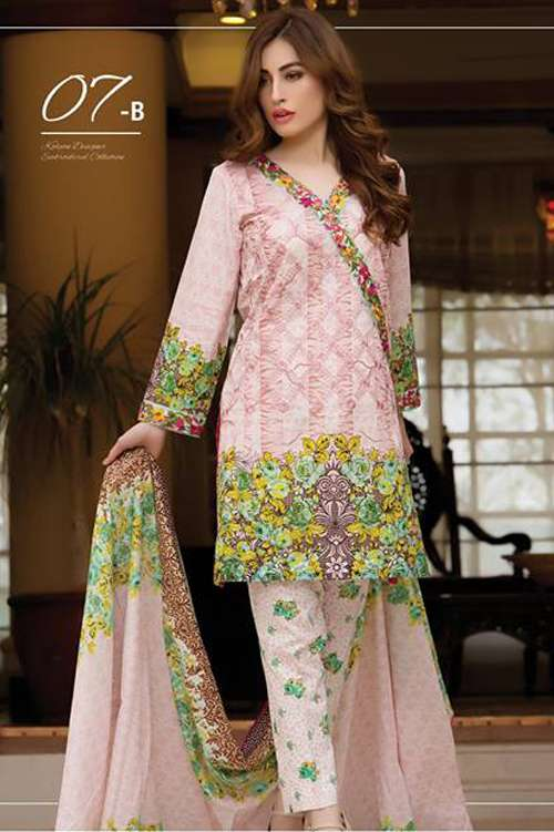 Kalyan By ZS Embroidered Lawn Unstitched 3 Piece Suit KY17E2 7B