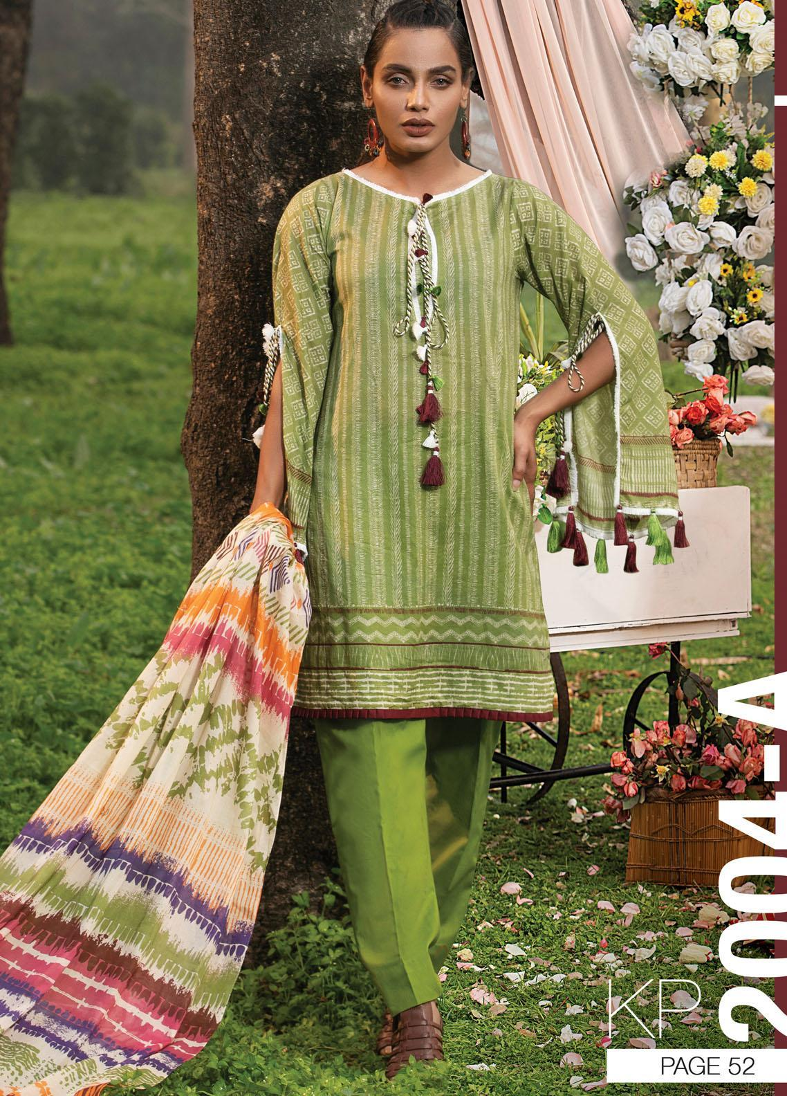 Komal By Lakhany Printed Lawn Unstitched 3 Piece Suit LSM21K 2004A - Summer Collection