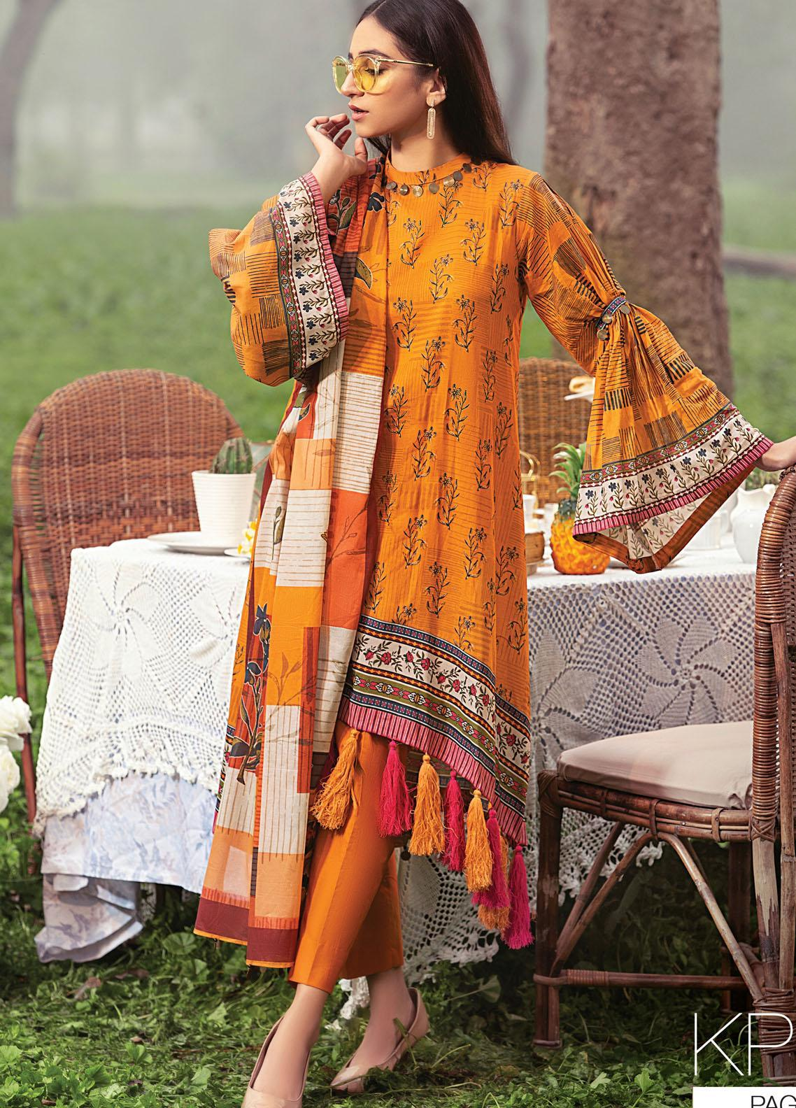 Komal By Lakhany Printed Lawn Unstitched 3 Piece Suit LSM21K 2007A - Summer Collection