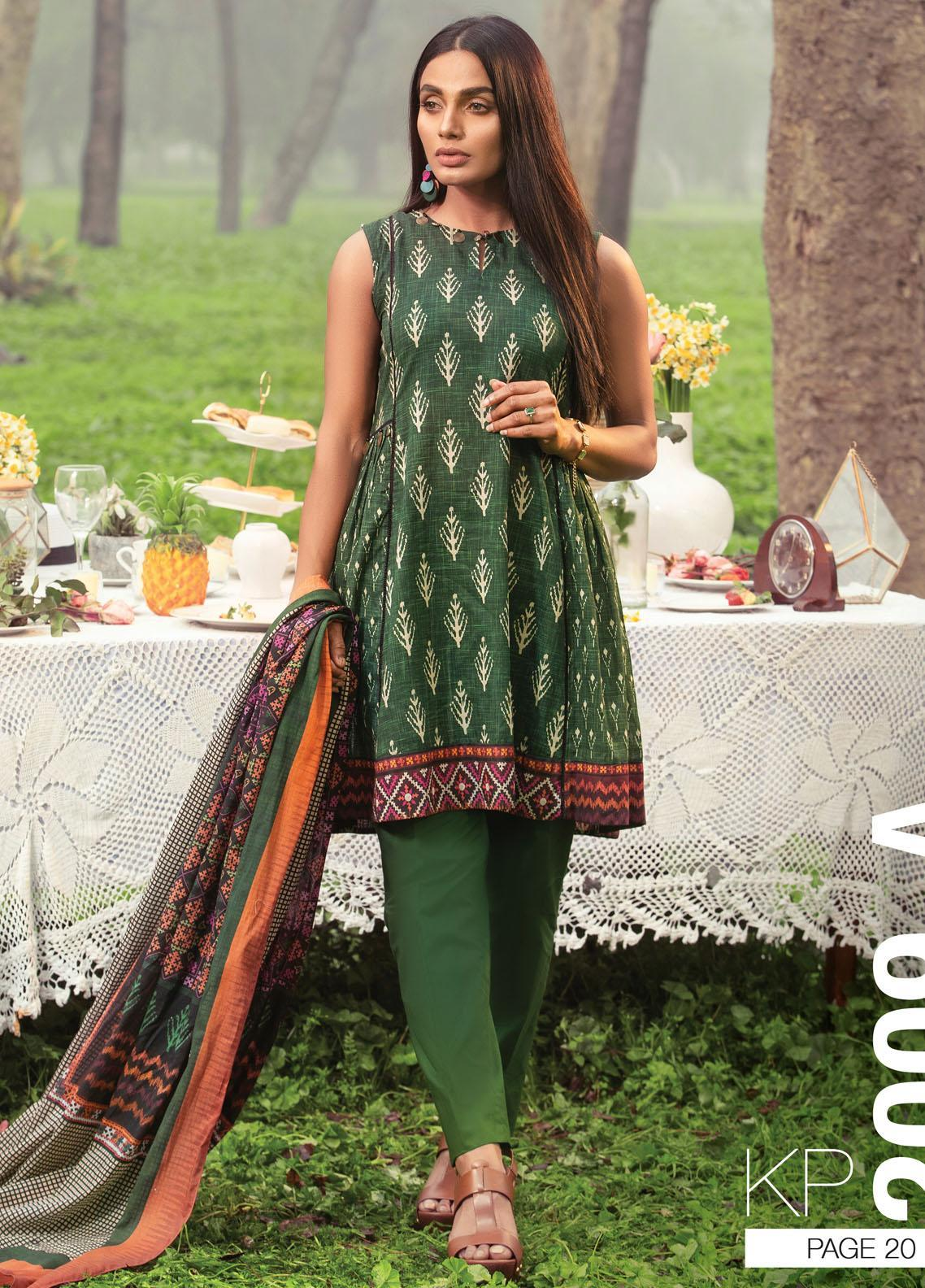 Komal By Lakhany Printed Lawn Unstitched 3 Piece Suit LSM21K 2009A - Summer Collection