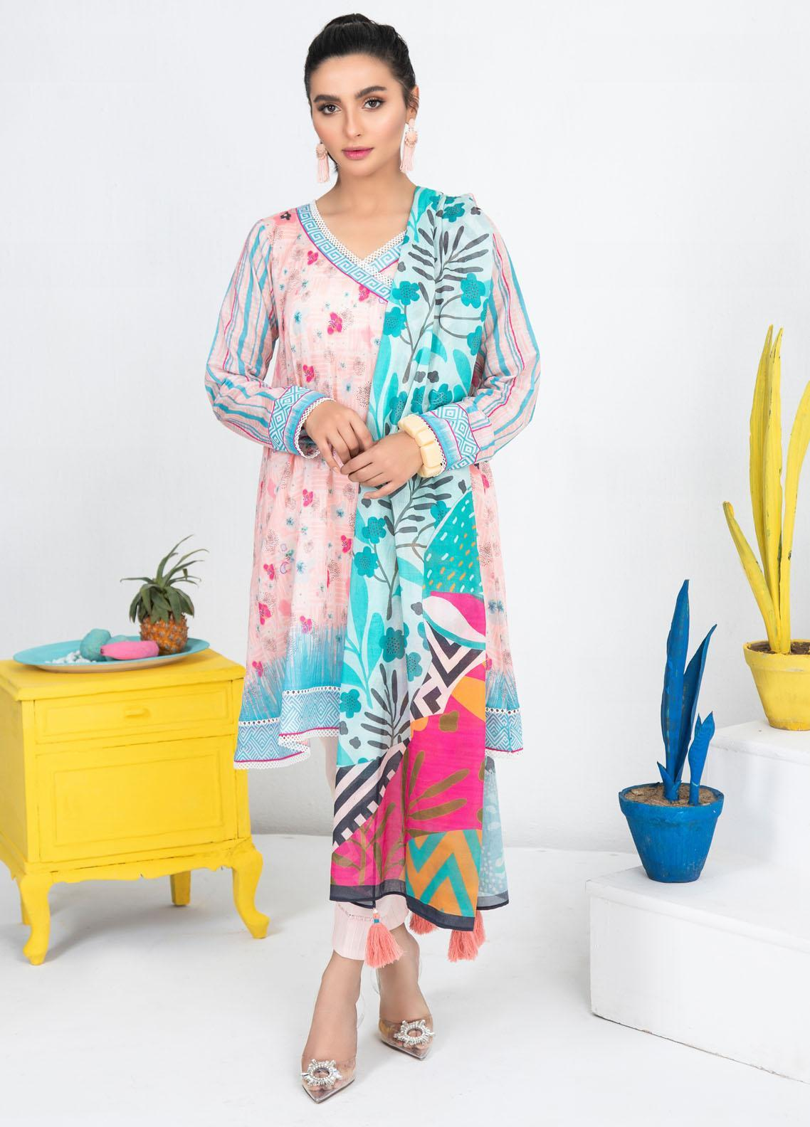 Lakhany Printed Lawn Suits Unstitched 3 Piece LSM21KP KPL-2017-A - Summer Collection