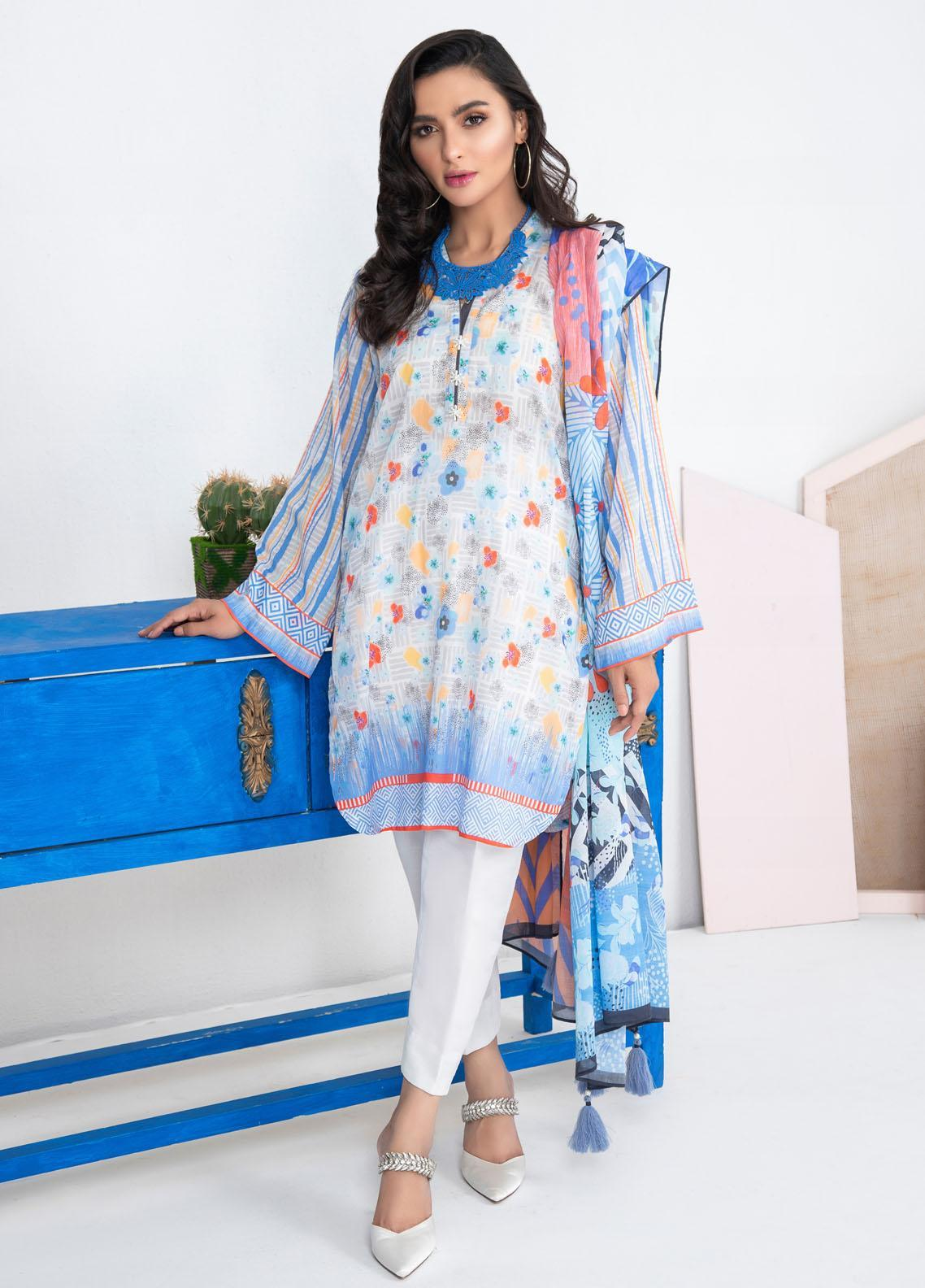 Lakhany Printed Lawn Suits Unstitched 3 Piece LSM21KP KPL-2017-B - Summer Collection