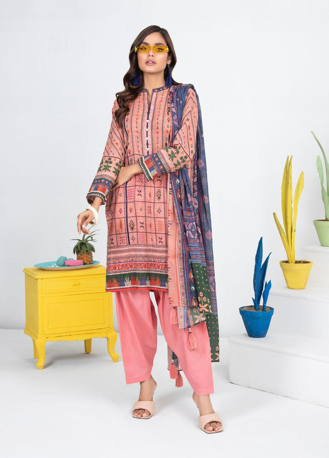 Lakhany Printed Lawn Suits Unstitched 3 Piece LSM21KP KPL-2019-B - Summer Collection