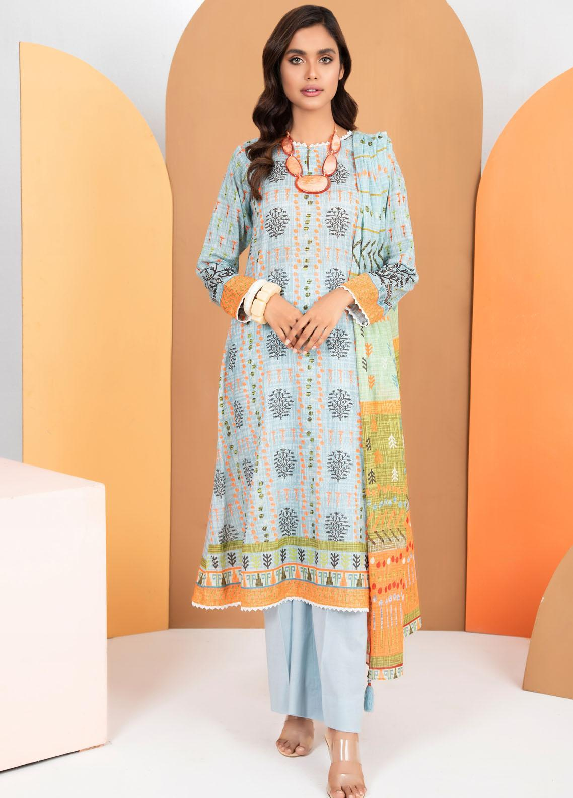 Lakhany Printed Lawn Suits Unstitched 3 Piece LSM21KP KPL-2021-A - Summer Collection