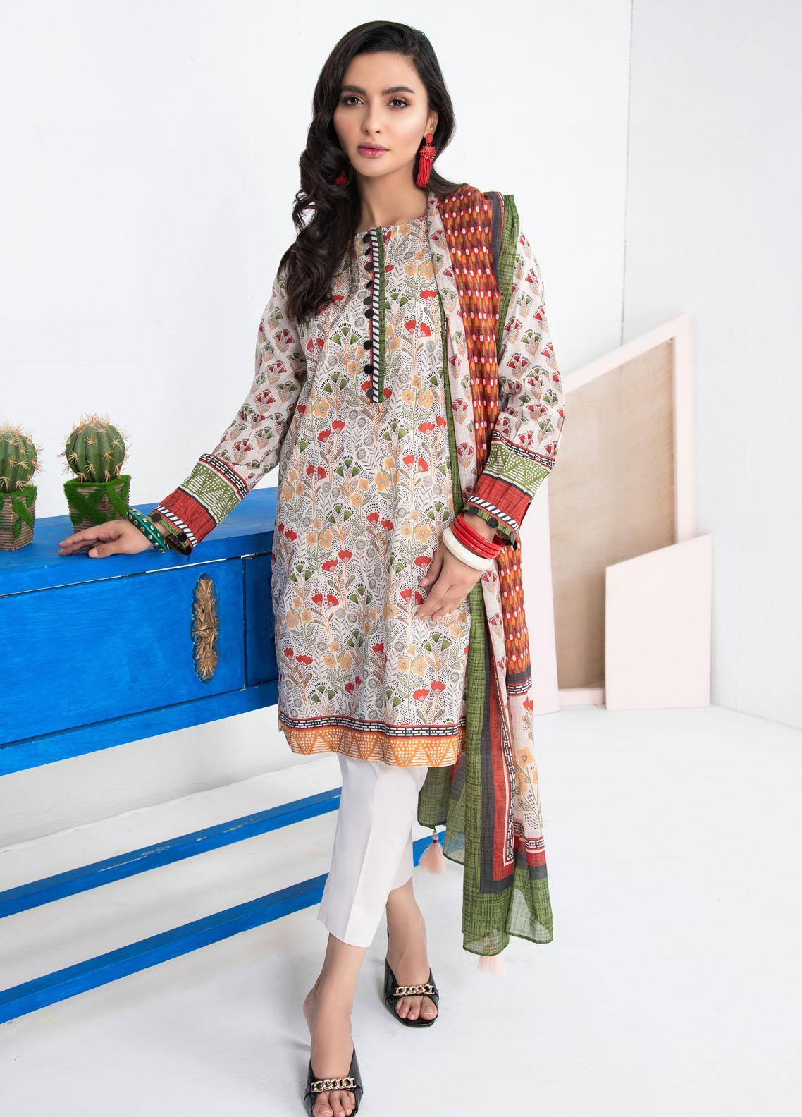 Lakhany Printed Lawn Suits Unstitched 3 Piece LSM21KP KPL-2022-B - Summer Collection