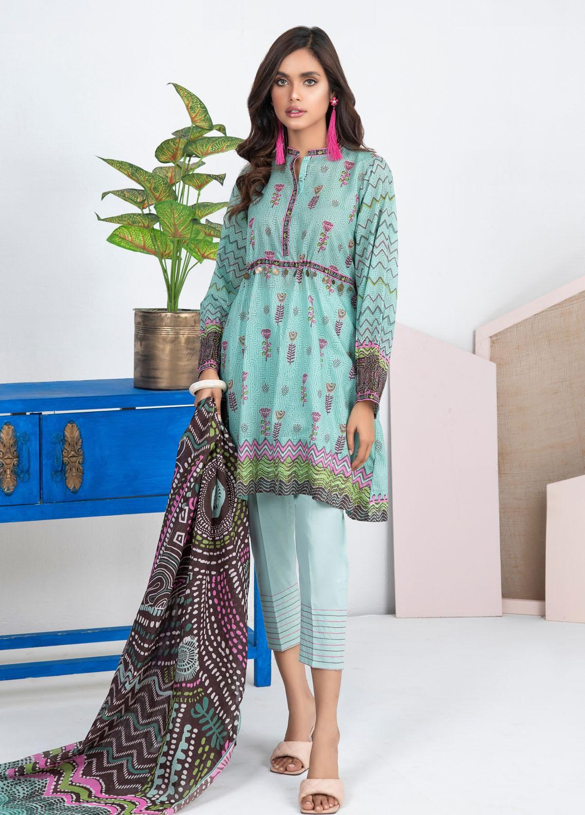 Lakhany Printed Lawn Suits Unstitched 3 Piece LSM21KP KPL-2023-B - Summer Collection