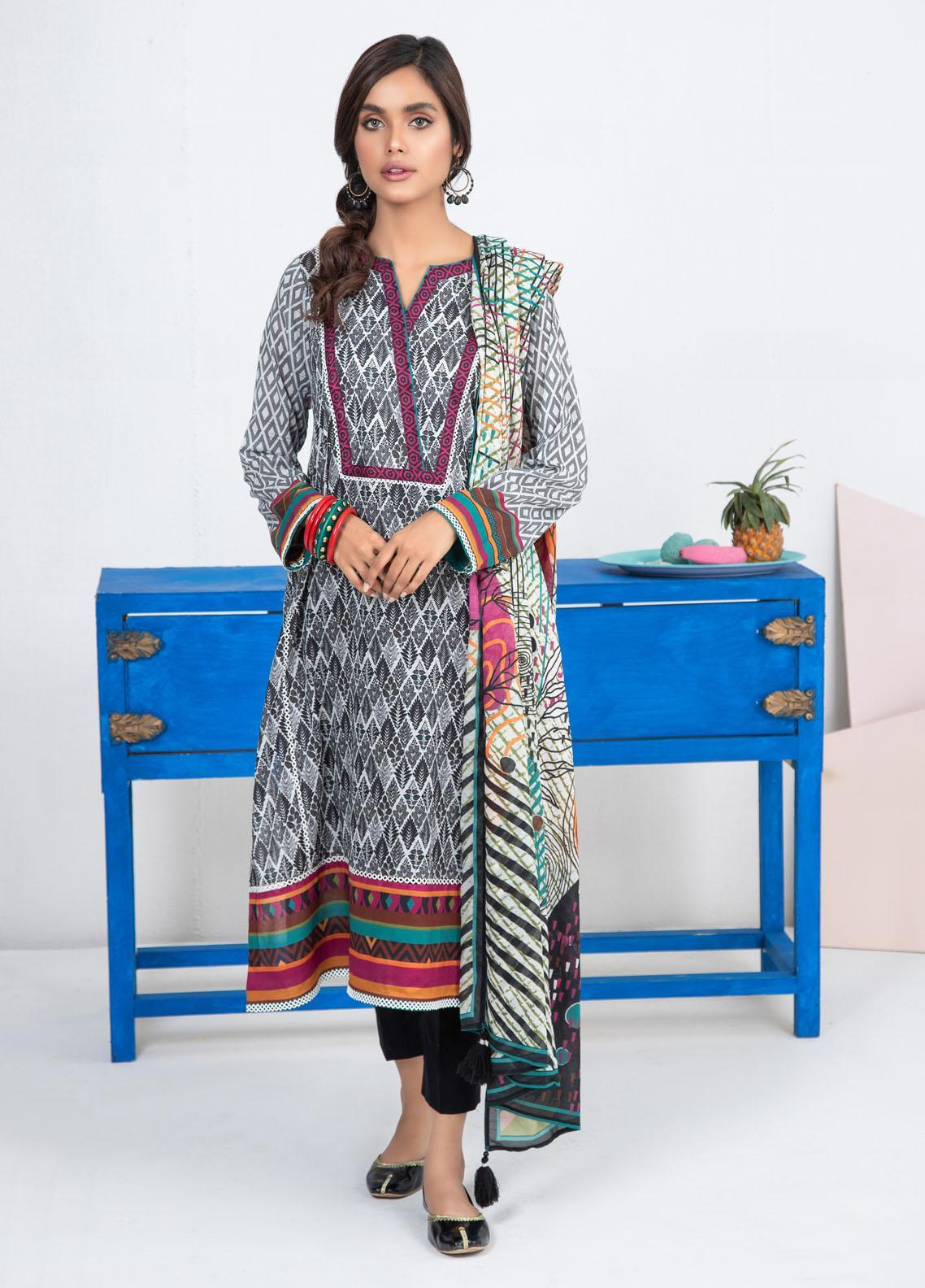 Lakhany Printed Lawn Suits Unstitched 3 Piece LSM21KP KPL-2024-B - Summer Collection