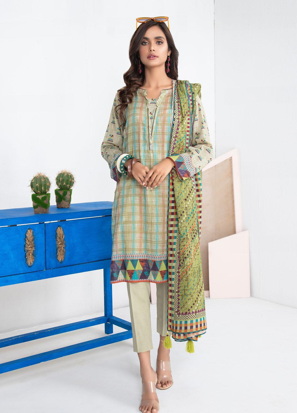 Lakhany Printed Lawn Suits Unstitched 3 Piece LSM21KP KPL-2025-B - Summer Collection