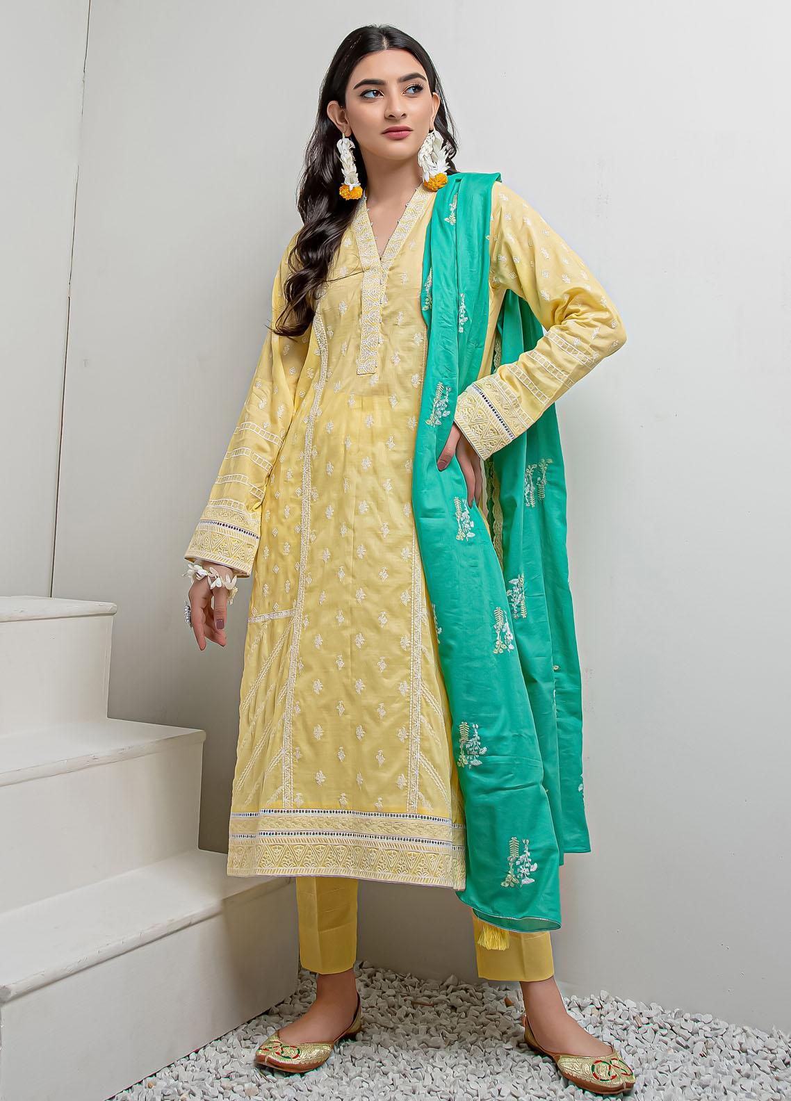 Lakhany Embroidered Lawn Suits Unstitched 3 Piece LSM21LK LEC-8023 - Festive Collection