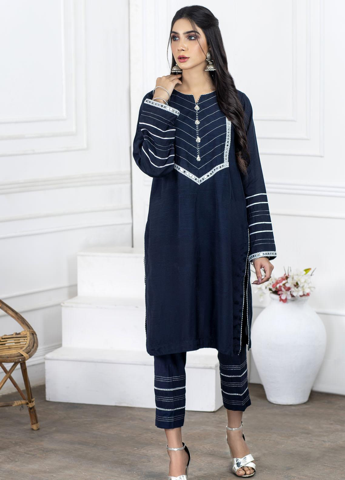 Lakhany Embroidered Raw Silk Stitched 2 Piece Suit LSM20PL LSM-2006