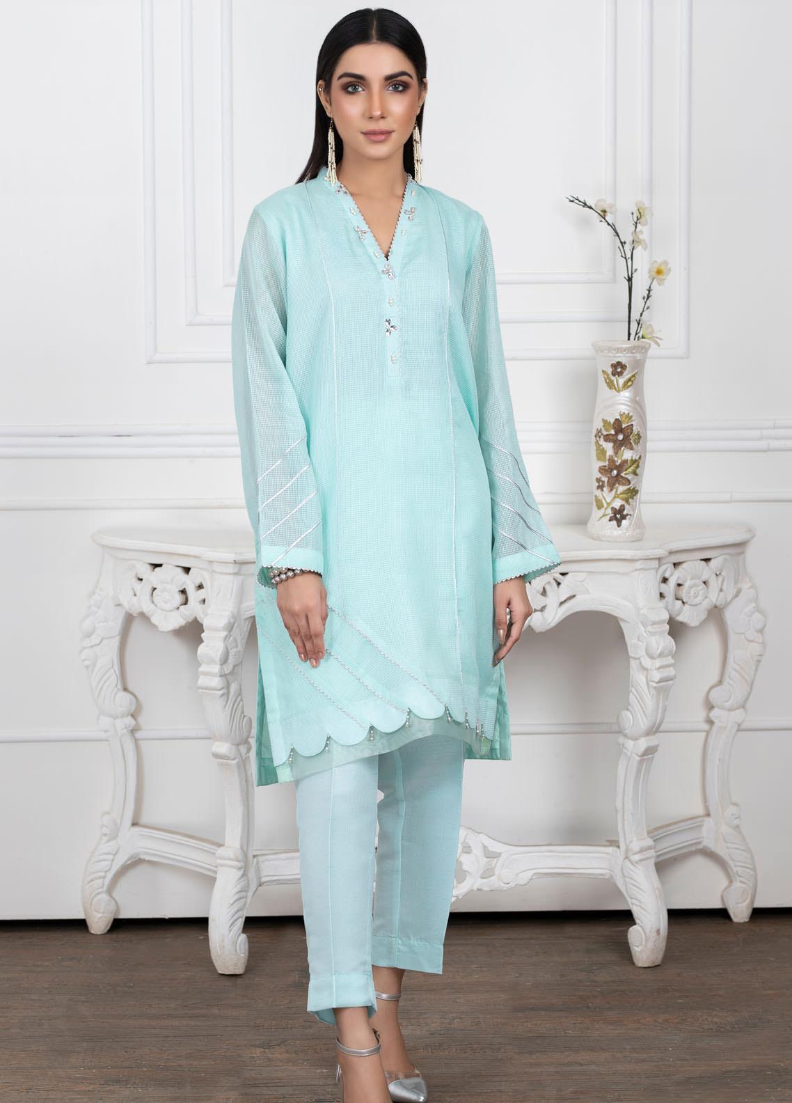 Lakhany Embroidered Cotton Net Stitched Kurtis LSM20PL LSM-2021