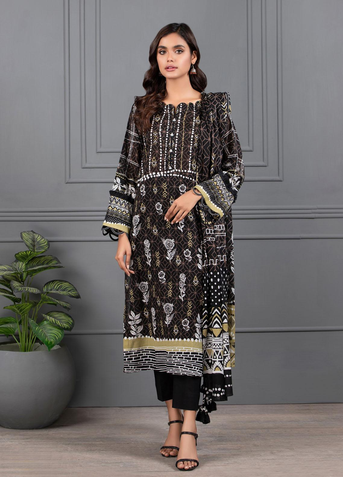 Monochrome By Lakhany Printed Lawn Suits Unstitched 3 Piece LSM21M 7020 - Summer Collection