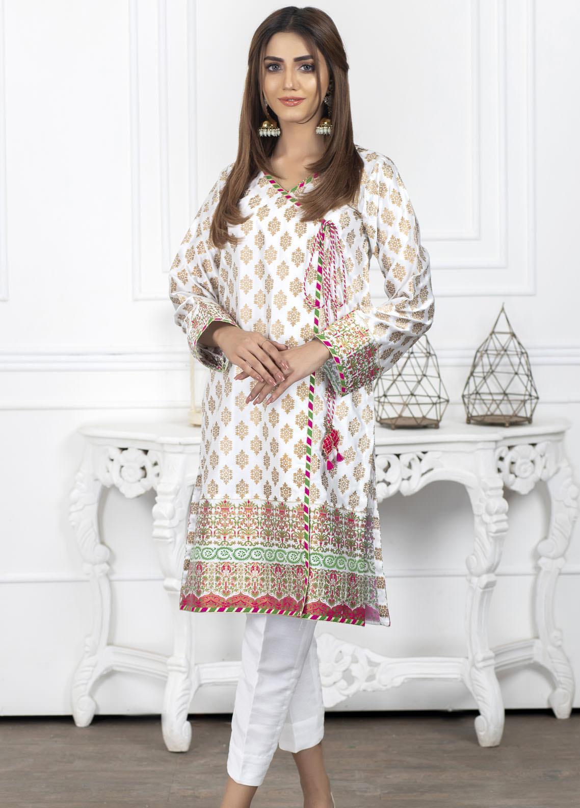 Lakhany Block Print Silk Stitched Kurtis LSM20BP LSM-2013