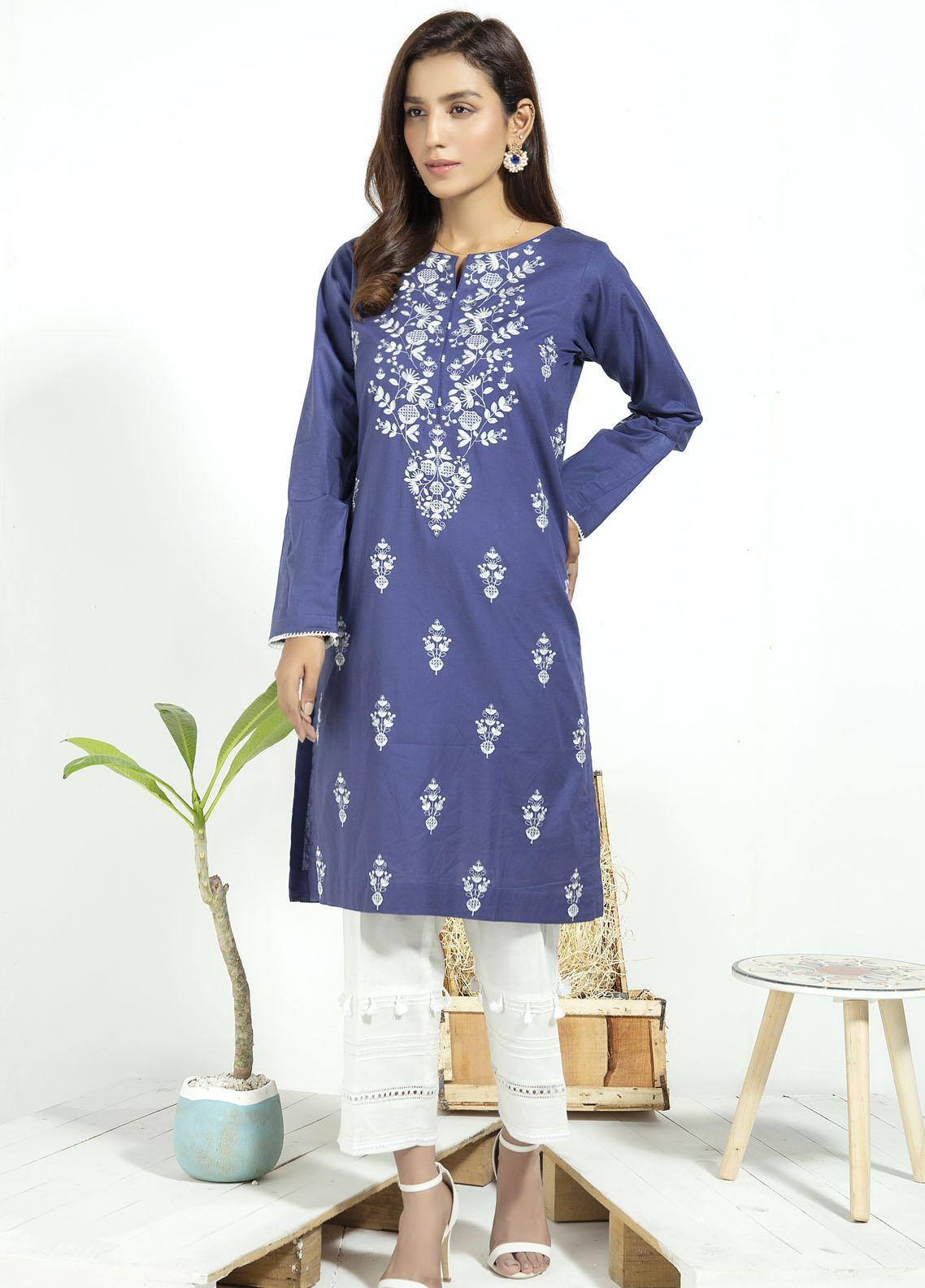Lakhany Embroidered Cambric Stitched Kurtis LSM20CK LSM-1931