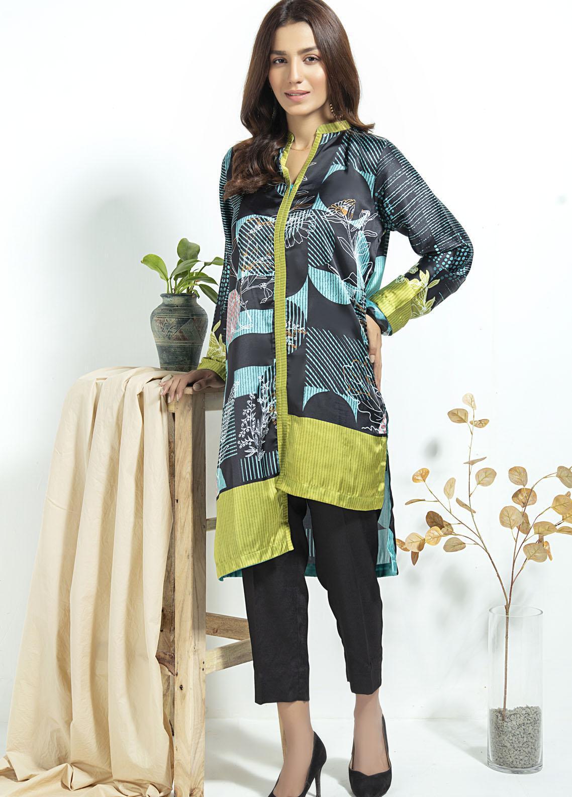 Lakhany Printed Silk Stitched Kurtis LSM20SK LSM-1913