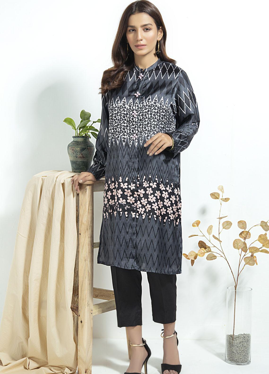 Lakhany Printed Silk Stitched Kurtis LSM20SK LSM-1914