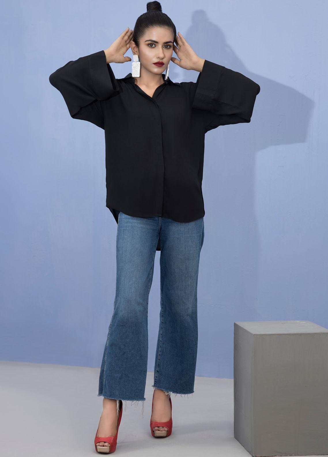 Lakhany Pret Fancy Crepe Shirt LSM21T 2385