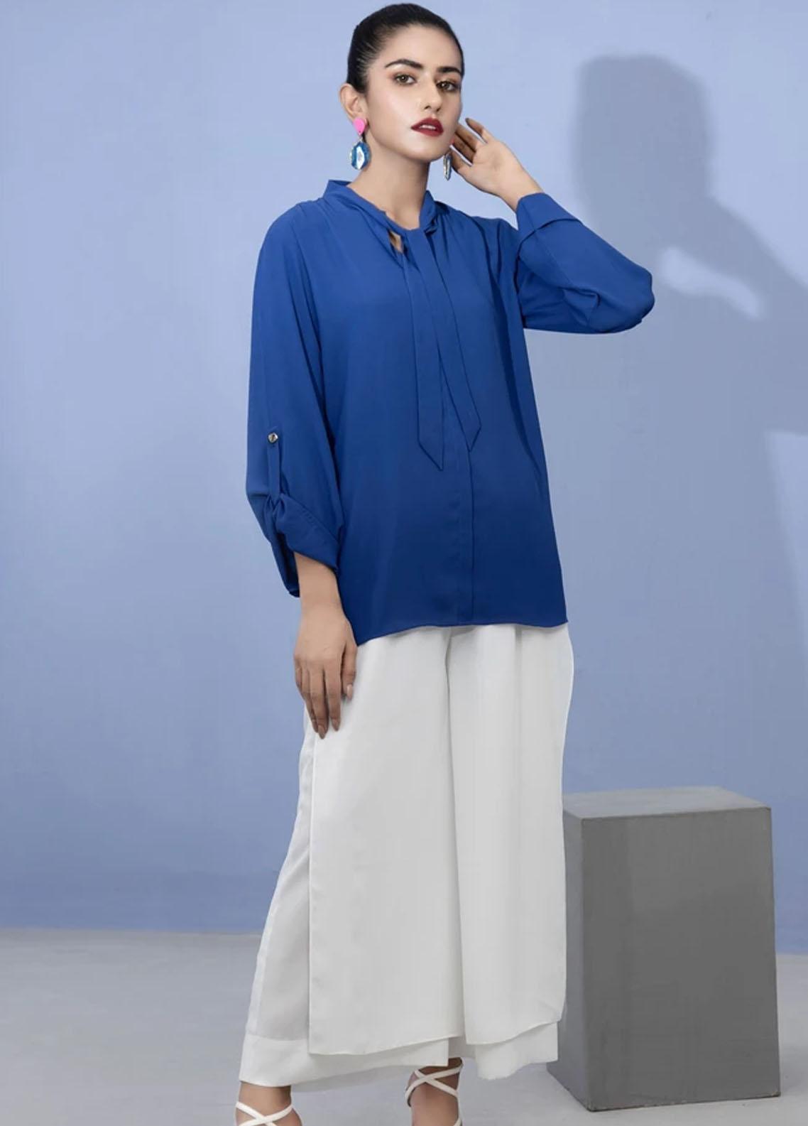Lakhany Pret Fancy Crepe Shirt LSM21T 2387