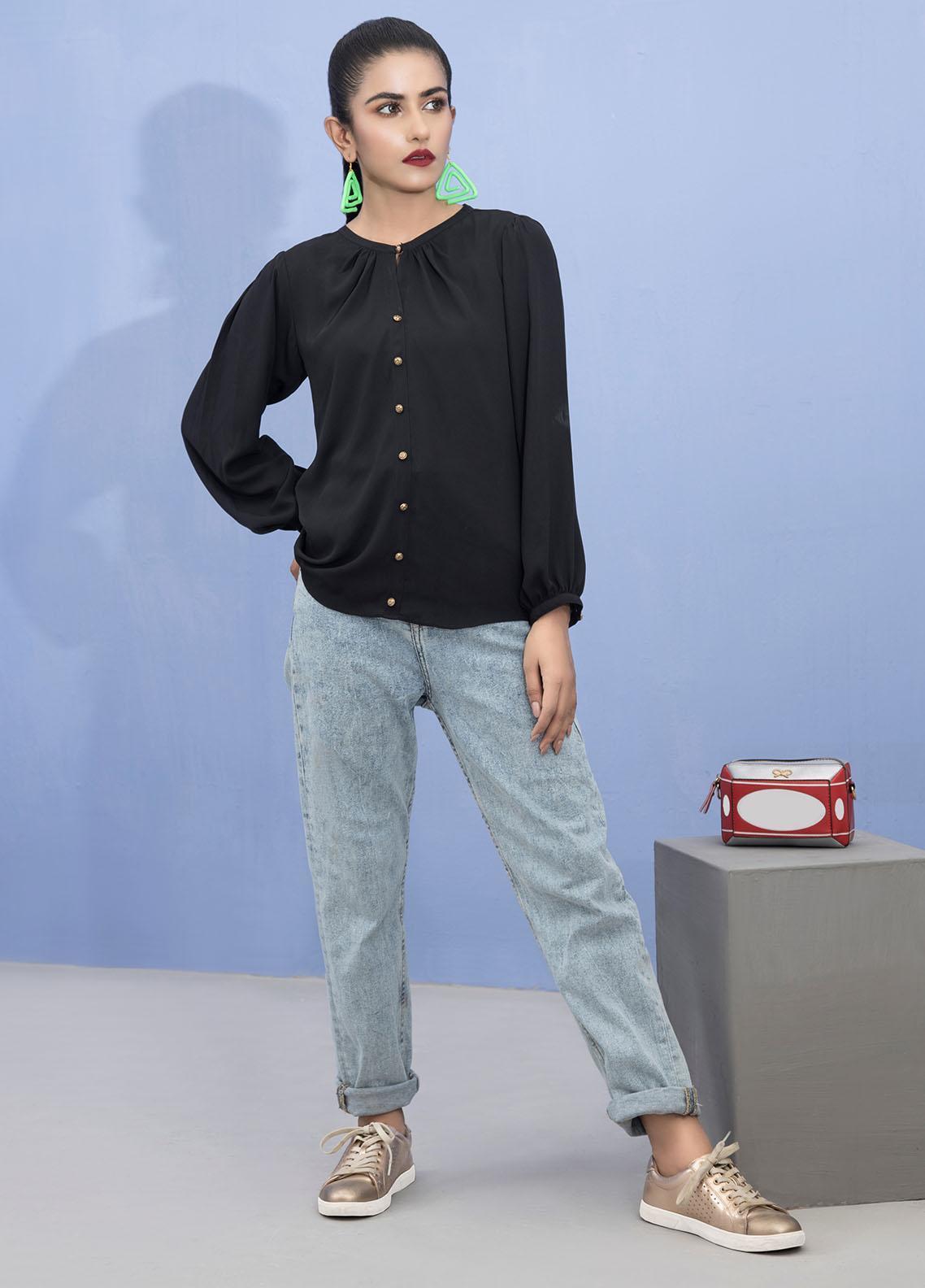 Lakhany Pret Fancy Crepe Shirt LSM21T 2388