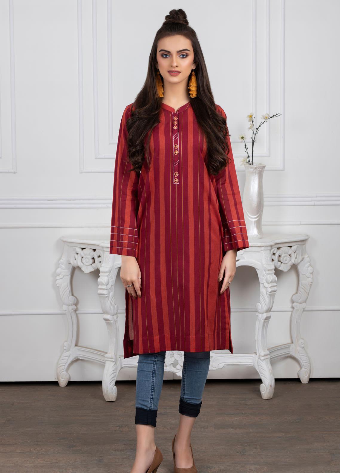Lakhany Dyed Cotton Stitched Kurtis LSM21YD LSM-2062